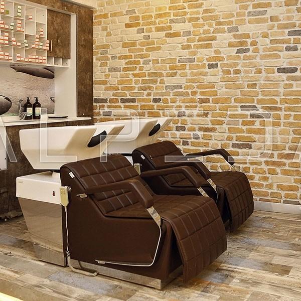 Λουτήρας Salon Wash με ηλεκτρικό υποπόδιο