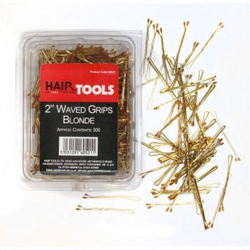 "Hair Tools 2"" Waved Grips Blonde - 500 τμχ (60521)"