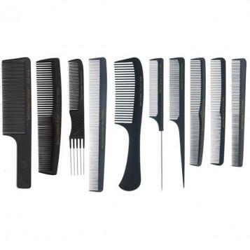 Head Jog C7 Carbon Fibre Pin Tail Comb (61421)